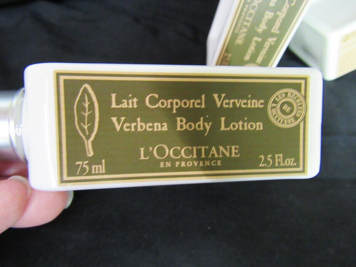 L'Occitane  Verbena Body Lotion Lait Corporel Verveine Four 2.5 fl. oz. Travel