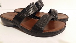 Earth Origins  By Earth Women Leather Woven Sandals Shoes 10M - $16.83
