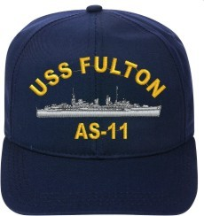 USS FULTON AS-11 Ball Cap New Ship Hat Ship Cap