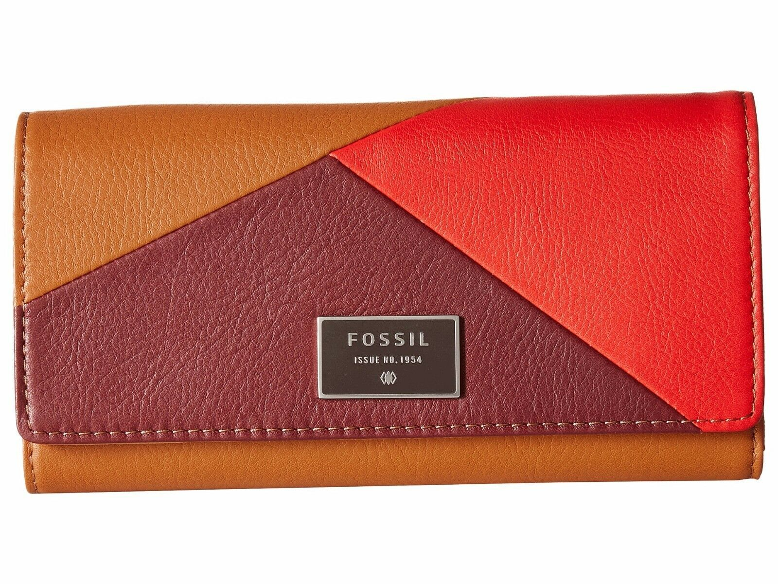 New Fossil Dawson Women Flap Leather Clutch Variety Color image 6