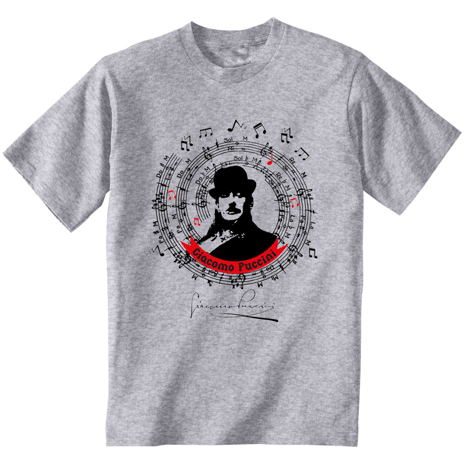 GIACOMO PUCCINI - NEW COTTON GREY GREY TSHIRT - $24.06
