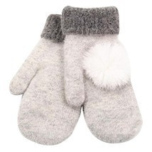 MittensGloves 7 Colorss Wool Warm Winter Gloves Mittens Guantes de invie... - ₨683.09 INR