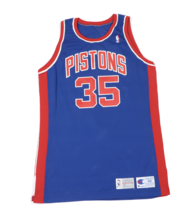 Vtg Champion NBA Detroit Pistons Isaiah Morris Player Issued Jersey #35 ... - $252.41