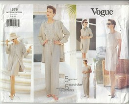 Vogue 1576 Misses Jacket Dress Wrap Skirt Sewing Pattern 1012 Sizes 12-16 - $12.86