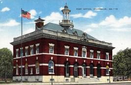 BRUNSWICK, GA Georgia    POST OFFICE   Glynn County    c1940's Linen Pos... - $5.92