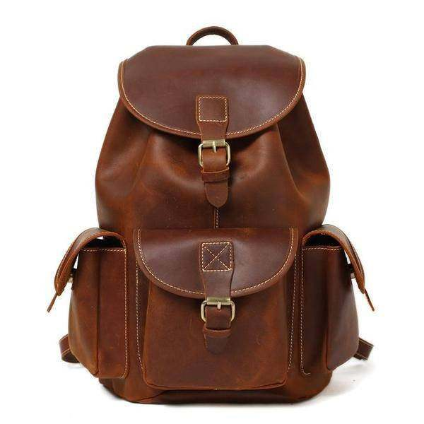 Sale, Vintage Leather Backpack, College Backpack, School Backpack