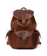 Sale, Vintage Leather Backpack, College Backpack, School Backpack - $160.00