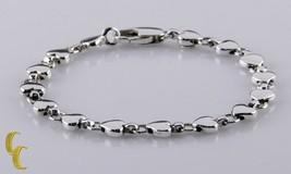 """Tiffany & Co.Chaînon en Forme de Coeur Argent Sterling Bracelet 6.5 """" Re... - $356.14"""