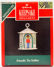 Hallmark  Friendly Tin Soldier 1992  Keepsake  Miniature Ornament - $10.14