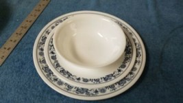 3 Piece Corning Corelle Old Town Blue Onion, Dinner & Luncheon Plate & Bowl - $14.16