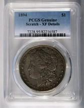 1894 MORGAN SILVER ONE DOLLAR XF Details Scratch PCGS Coin Lot # SR 1189