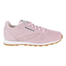 Reebok Classic Leather Pastels Big Kid's Shoes Pink-Classic White CN0569 - $39.95