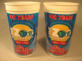 (lot of 2) 100 Years OKLAHOMA CITY ZOO Cups 2004 32 oz [Y34] - $14.40