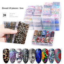 Holographic Nail Sticker Starry Transfer Foil Nail Art Sticker Lace 10Pc... - $5.45+