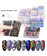 Holographic Nail Sticker Starry Transfer Foil Nail Art Sticker Lace 10Pc... - $5.55+