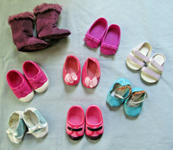 """Lot Of 8 Pairs Fits American Girl My Life Our Generation 18"""" Dolls Mixed Shoes - $19.95"""