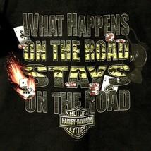 Harley Davidson T-Shirt Mens Large What Happens On The Road Orlando Florida - $19.31