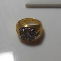 18K HGE Floral Rhinestone Ring  - $23.76