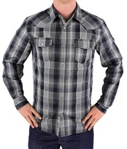 NEW NWT LEVI'S MEN'S LONG SLEEVE BUTTON UP CASUAL DRESS SHIRT GRAY 3LYLW0042