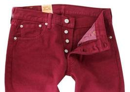 NEW LEVI'S 501 MEN'S ORIGINAL FIT STRAIGHT LEG JEANS BUTTON FLY RED 00501-1570 image 3
