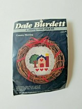 1987 Dale Burdett Cross Stitch kit CK673 Country Morning Wreath House Tree...VTG - $11.14