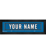 """Personalized Detroit Lions Stitched Team Jersey 8"""" x 24"""" Framed Print - $38.50"""