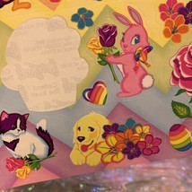 Vintage 90s Lisa Frank Incomplete Fullsize Sticker Sheet Easter Bunnies  image 2