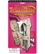 Cowgirl Metal Texas Rose Pink Cap Gun Replica Revolver Pistol With Holster - $25.99