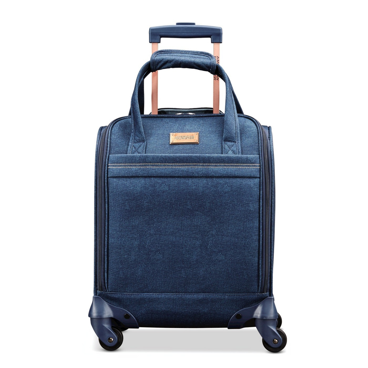 American Tourister Arabella Underseater CARY-ON 360 SPINNER Denim Blue SOLID NEW