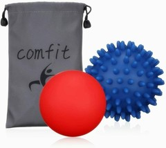Massage Lacrosse 2 Ball Myofascial Muscle Relief Trigger Point Yoga Therapy Pain - $15.79