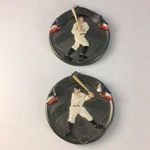 Vintage Hallmark 1994 Babe Ruth & 1995 Lou Gehrig New York Yankees Ornaments - $9.69