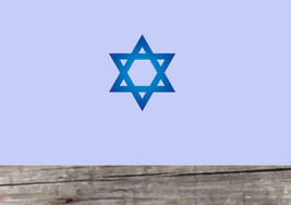 Star of David PHOTO TEX Removable Cling Wall Decor - $8.90+