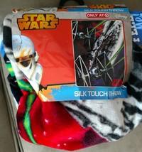 Star Wars Silk Touch Throw Blanket NWT 40 x 50 Tie Fighter Millennium Fa... - $23.76