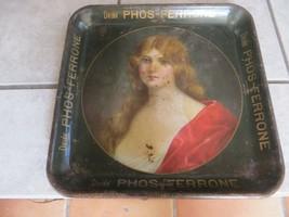 PRE-PRO,DRINK PHOS-FERRONE ANTIQUE ORIGINAL LADY ADVERTISING SERVING TRA... - $1,980.00