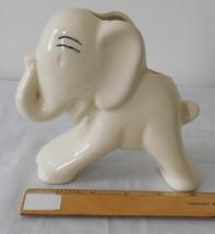 Vintage Figural Ceramic Pottery Planter Vase Elephant with Trunk Up - $12.99