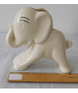 Vintage Figural Ceramic Pottery Planter Vase Elephant with Trunk Up - $12.99