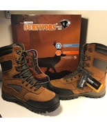 HERMAN SURVIVORS BOOTS WATERPROOF INSULATED NEW IN BOX BROWN BLACK SIZE ... - $74.25