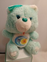 """Vintage Kenner Care Bear """"Bedtime Bear"""" small mint Green Plush Toy Moon ... - $14.01"""