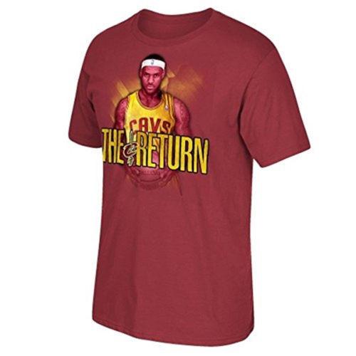 LeBron James Cleveland Cavaliers Shirt Men's Basketball Tee THE RETURN T-Shirt