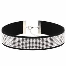 Harajuku Choker Necklace Women Crystal Choker 2018 PU Leather chocker go... - $15.66