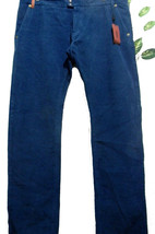 Missoni Mens Blue Velvet Casual Pants Size 40 100% Cotton Made in Italy NEW - $167.31