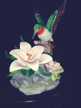 Vintage  San Francisco Music Box Co. Musical Hummingbird   Morning Glory - $14.85