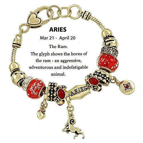 Beautiful Goldtone Zodiac Aries Astrology/Horoscope Theme (Aries- March 21-April