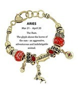 Beautiful Goldtone Zodiac Aries Astrology/Horoscope Theme (Aries- March ... - $12.71