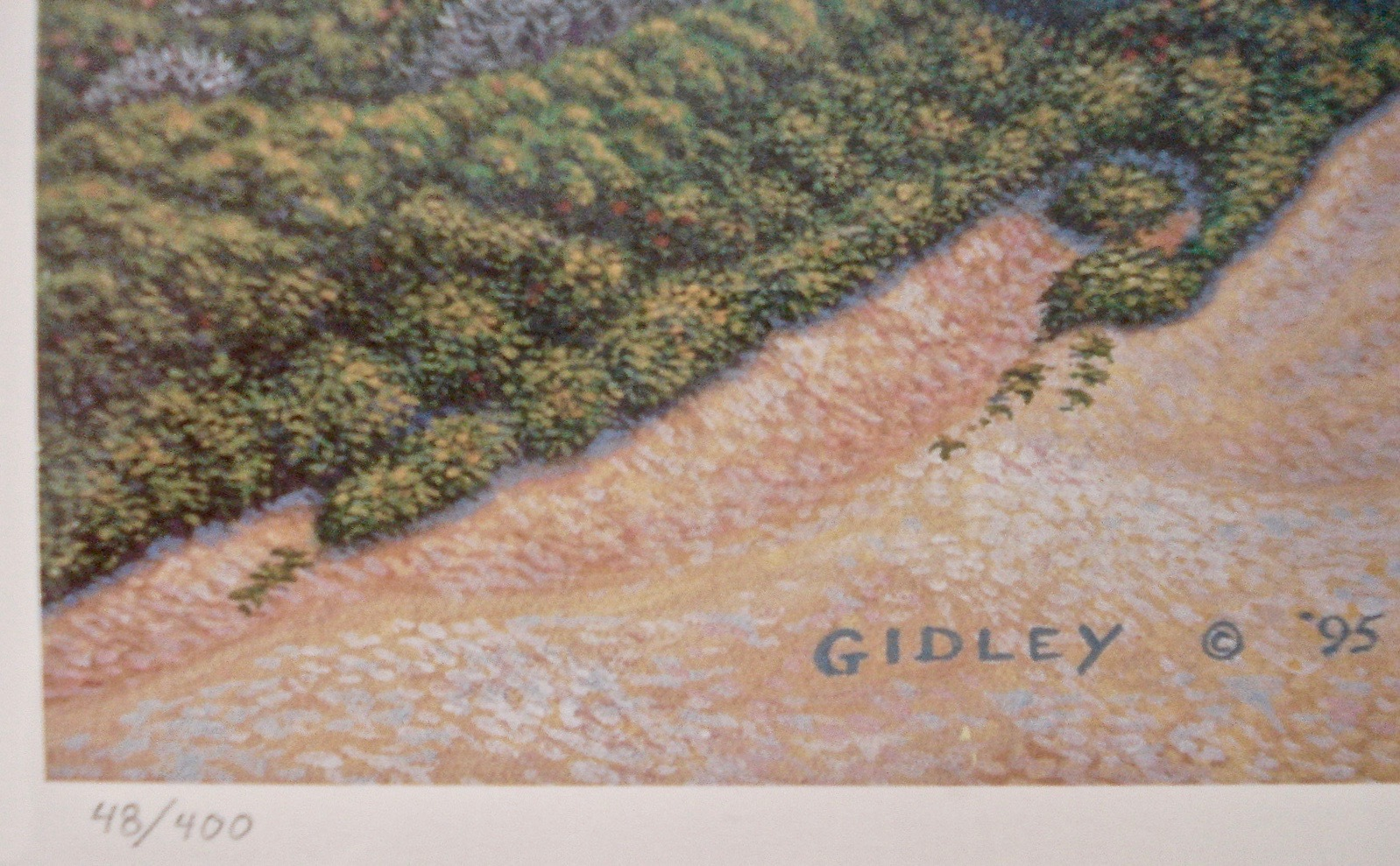 Marthas Vineyard Art Print Gay Head Phil Gidley Pencil Signed 01977