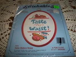 Stitchables Cross Stitch Kit 7551~Taste Makes Waist - $10.00
