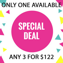 FRI-SUN Flash Sale! Pick Any 3 For $122 Best Offers Discount - $244.00