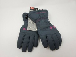 NWT UA MOUNTAIN UNDER ARMOUR WOMENS Small STORM 3 BLACK WINTER GLOVES  - $34.60