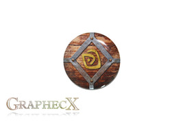Fan-made Atlantis shepherd's journal cosplay inspired personalized button - $2.50