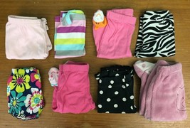 Lot of 8 Pairs Girl's Size 3 Months Bottoms - Carter's, Vitamins, & More - $10.97